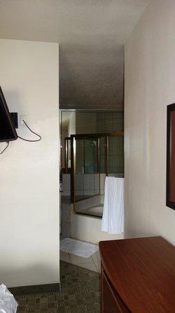 Alexis Park Resort: Loft bathroom. No doors