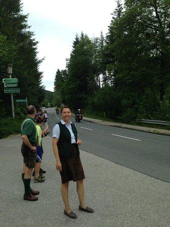 Landhaus Koller: Hosts - as we were leaving watching a bike rally pass the hotel.