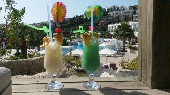 Sianji Wellbeing Resort : Cocktails délicieux fait avec de vrai jus et de vrai fruits