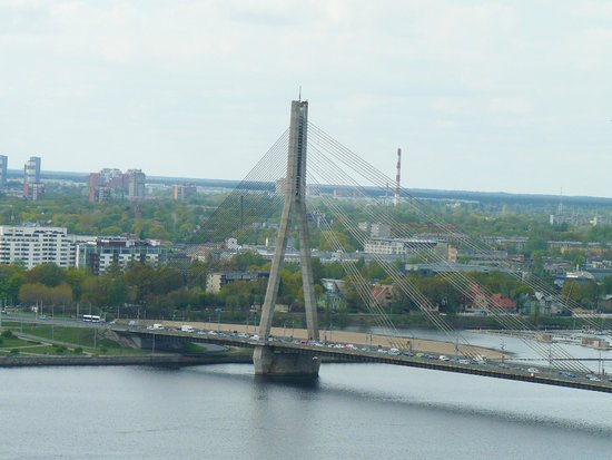 View of Riga from St Peter's Church Tower : мост