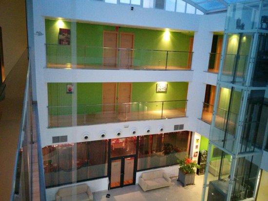 Hotel Ciudad de Corella : Vista desde el pasillo de la segunda planta