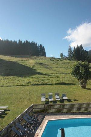 Hotel Spa Crychar: vue de la chambre Campanule