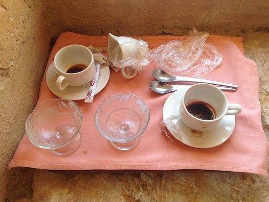 Moevenpick Resort & Spa Dead Sea: Room service tray still outside a whole day and a half later
