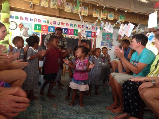 Octopus Resort: Visit to the village kindergarten.
