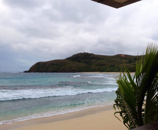 Octopus Resort: View from the porch of our beachfront bure.