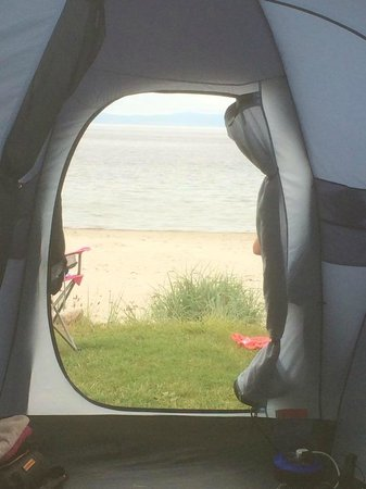 Muasdale Holiday Park: Sea View from Tent