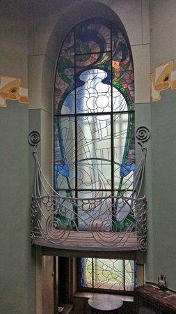 Gorky's House (Ryabushinsky Mansion) : Window on the staircase landing