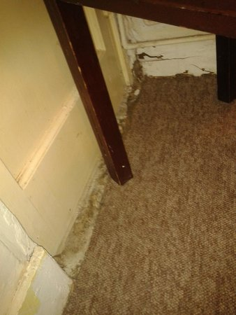 The Continental Hotel: edging of carpet/doorway