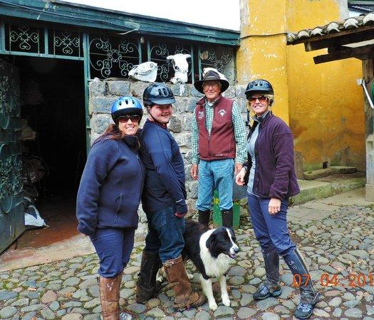 Hacienda La Alegria : with Mauricio, ready to ride!