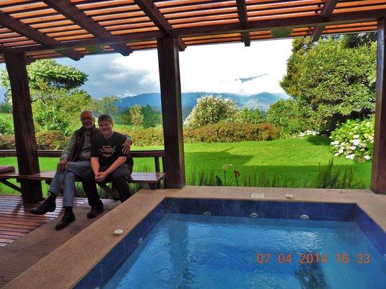 Hacienda La Alegria : My son with Mauricio