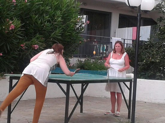 Telemachos Hotel: Using the table tennis