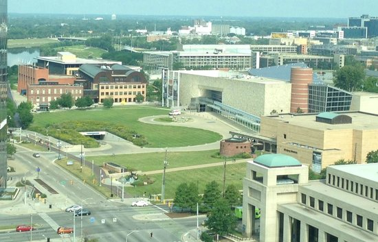 Indianapolis Marriott Downtown: View NW from room 1914 (19th floor)