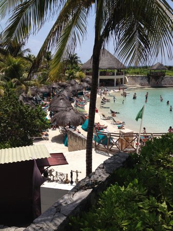 Occidental at  Xcaret Destination: Hotel sheltered beach in cove