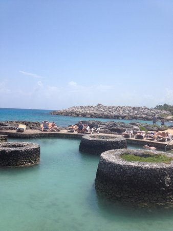 Occidental at  Xcaret Destination: Rocky point snorkel access point