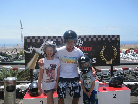 Lanzarote Karting : Winners podium