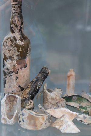 Geothermal Park,Klambragil,new hot spring area: bottles coughed up by hot springs