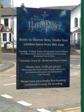 Warner Bros. Studio Tour London - The Making of Harry Potter: Message at the Bus Stop at Watford Junction
