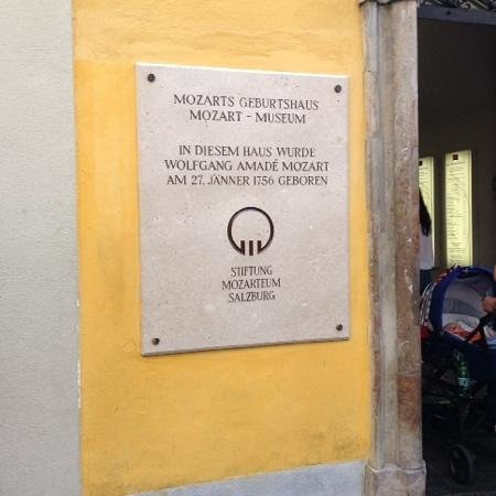 Mozart's Birthplace : signage
