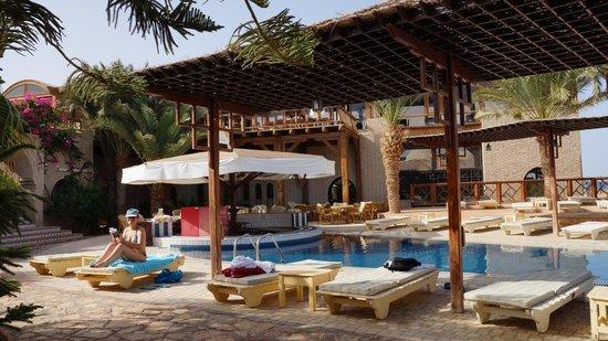 Nesima Resort and Dive Center: piscine vue de la chambre