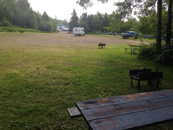 Grand Marais RV Park and Campground: The over flow camping area.