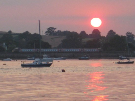 River Exe Cafe: Sunset from the cafe