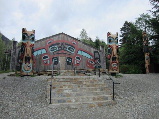 Saxman Native Village : at Saxman totem village