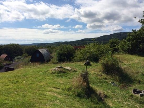 Stonefield Farm Holidays: bbq/fire pit area - with views!