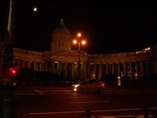 Kasaner Kathedrale: Cattedrale di nostra signora di Kazan in notturna