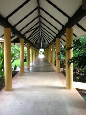 Viva Wyndham Azteca: Verbindungsgang Innenhof mit Zimmern