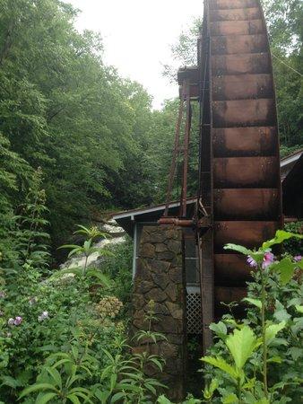 Historic Sylvan Falls Mill Bed and Breakfast: Mill wheel and falls