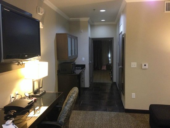 Best Western PREMIER Crown Chase Inn & Suites: King suite has a door to the bedroom for privacy!
