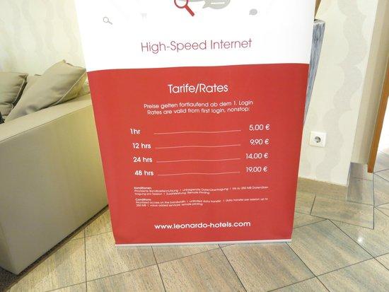 Leonardo Hotel Mannheim City Center: Expensive, poor wi fi at The Leonardo, Mannheim