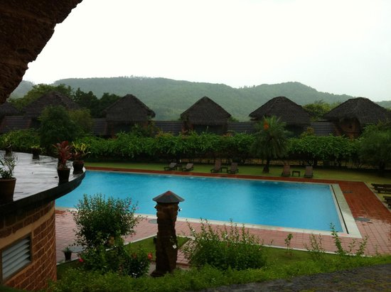 SwaSwara: Outdoor swimming pool in forest