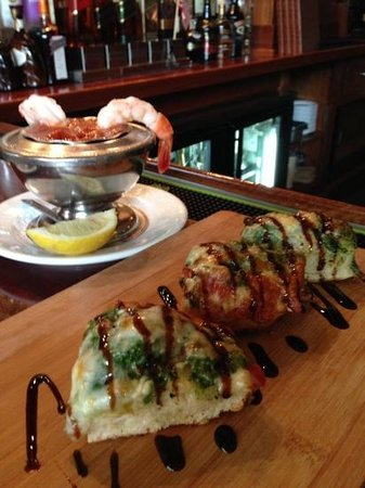 Tony R's: Bruschetta & shrimp cocktail