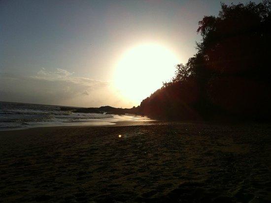 SwaSwara: Sunset on the beach.