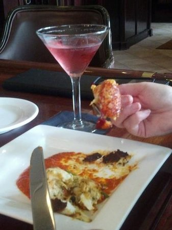 Tony R's: Lobster & crab cakes may contain entire lobster claws!