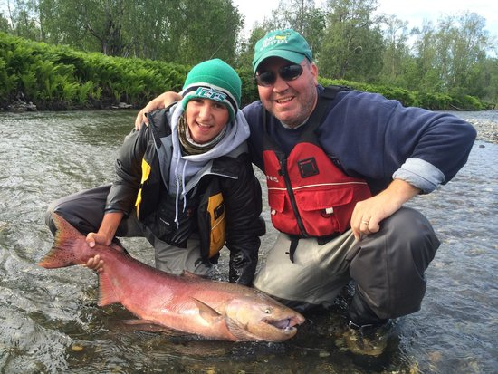 Alaska Fishing Lodge - Wilderness Place Lodge : Jack landed this beast but not without an epic battle !!!