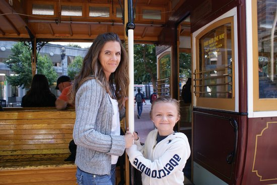 Omni San Francisco Hotel: My wife and son on the cable car.