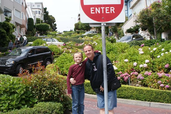 Omni San Francisco Hotel : Lombard Street.