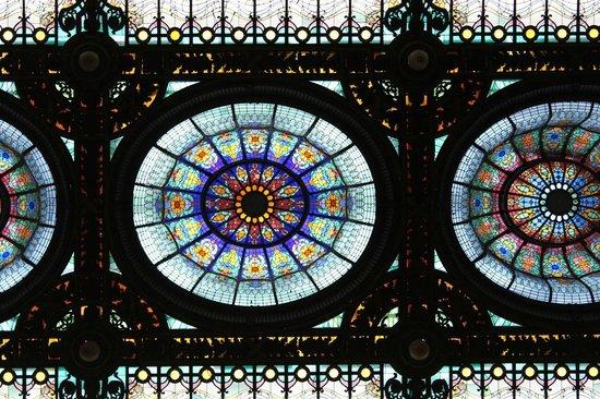 Gran Hotel Ciudad de Mexico: Detalle del vitral de bóveda en el ingreso al Hotel