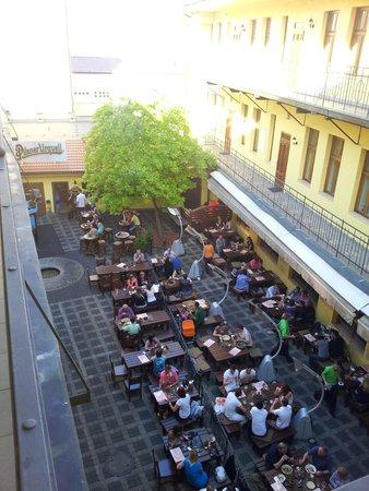 Plzensky restaurant Andel : Desde arriba