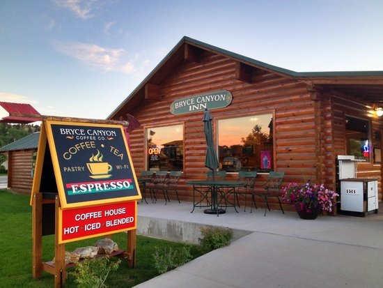 Bryce Canyon Coffee Co.: We are located inside the Bryce Canyon Inn motel office on Highway 12. Tropic,Utah