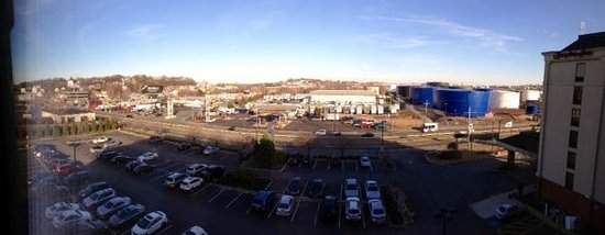 Hampton Inn Boston-Logan Airport: the 'industrial view' from our room