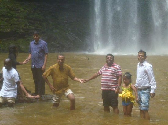 Boti Falls: At Boti fall with friends in Ghana, Eastern Region, Ghana