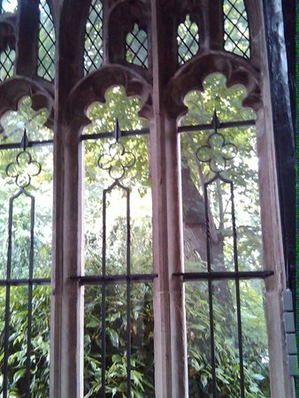 Samlesbury Hall: No wooden window frames... solid stone