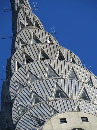 Chrysler Building: The shadows form within each facet