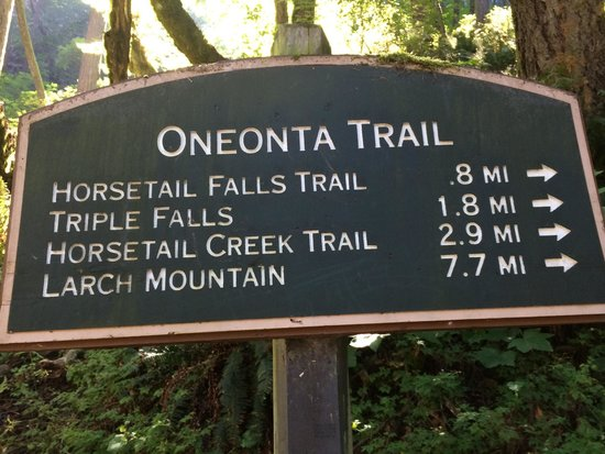 Hood River, Орегон: Sign to start trails.