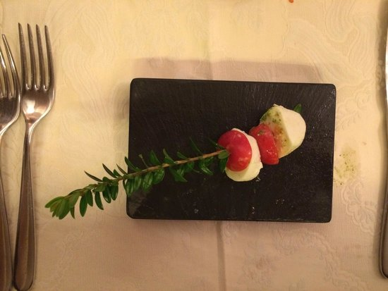 Ristorante Salice Blu: The chef sent us this amuse bouche