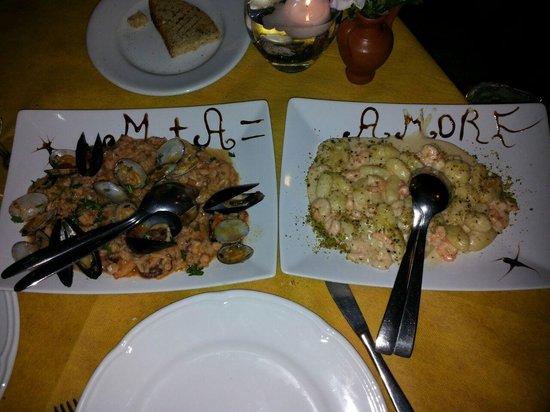 Trattoria Chicchirichi : meravigliosi questi piatti. bellissima sorpresa per me e la mia ragazza