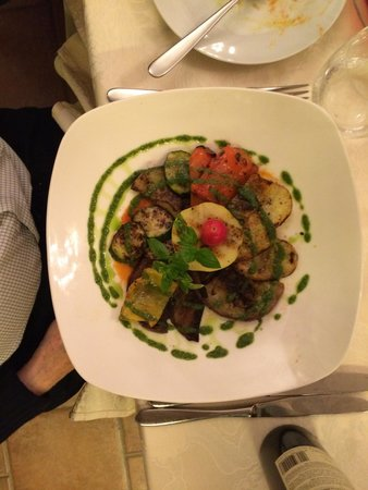 Ristorante Salice Blu: Grilled vegetables